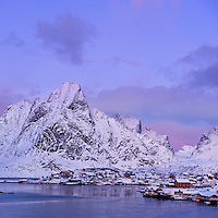 Reine in winter, Moskenesøy, Lofoten islands, Norway