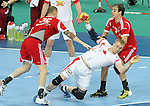 12.01.2013 Barcelona, Spain. IHF men's world championship, Quarter-Final. Picture show Rene Toft    in action during game between Denmark vs Hungary at Palau ST Jordi