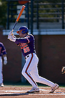 Kyle Parker (25) follows through on his swing versus the Wake Forest Demon Deacons during the first game of a double header at Gene Hooks Stadium in Winston-Salem, NC, Sunday, March 9, 2008.