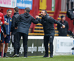 Derek McInnes celebrates the win at full time