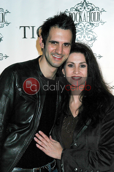 Joseph Dimartino and Janice Binkley<br />at the Rockaholic Release Party. V20 the Venue, Long Beach, CA. 02-01-09<br />Dave Edwards/DailyCeleb.com 818-249-4998