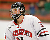 Lindsay Domaas (NU - 15) - The Northeastern University Huskies defeated the Boston University Terriers in a shootout after being tied at 4 following overtime in their Beanpot semi-final game on Tuesday, February 2, 2010 at the Bright Hockey Center in Cambridge, Massachusetts.