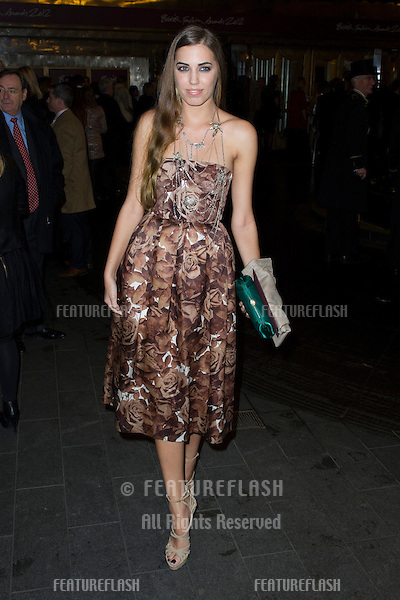 Amber Le Bon arriving for the British Fashion Awards 2012 at the Savoy Hotel, London. 27/11/2012 Picture by: Simon Burchell / Featureflash