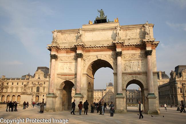 Arc Triomphe Carrousel, Paris, France