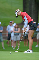 Jessica Korda (USA) watches her putt on 10 during round 1 of the U.S. Women's Open Championship, Shoal Creek Country Club, at Birmingham, Alabama, USA. 5/31/2018.<br /> Picture: Golffile   Ken Murray<br /> <br /> All photo usage must carry mandatory copyright credit (© Golffile   Ken Murray)