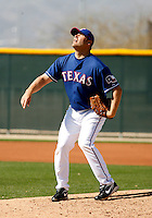 Thomas Diamond - Texas Rangers - 2009 spring training.Photo by:  Bill Mitchell/Four Seam Images