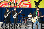 FINISHED: Finished entertaining the large crowd who attended the 10th Anniversary of Mercy Mounthawk Secondary School, on Sunday werte the band The Woulf Pack l-r: Tim Farrell, Conor Higgins, Andrew O'Callaghan and Dara Harkin.............
