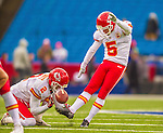9 November 2014: Kansas City Chiefs kicker Cairo Santos warms up prior to a game against the Buffalo Bills at Ralph Wilson Stadium in Orchard Park, NY. The Chiefs rallied to defeat the Bills 17-13. Mandatory Credit: Ed Wolfstein Photo *** RAW (NEF) Image File Available ***