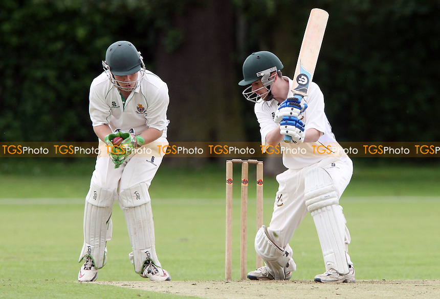 J Aggio-Brewe of Upminster in batting acion - Upminster CC vs Harlow CC, Essex League Division One at Upminster Park, Upminster - 09/06/12 - MANDATORY CREDIT: Rob Newell/TGSPHOTO - Self billing applies where appropriate - 0845 094 6026 - contact@tgsphoto.co.uk - NO UNPAID USE..