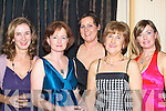 GLAM: Fashion galore at the Tralee Sailing Club Fenit dinner and dress dance in the Ballygarry House Hotel & Spa on Saturday night. L-r: Catherine O'Keeffe, Bernice Fitzgibbon, Sandra O'Sullivan, Margaret Sears and Aine McGillicuddy.   Copyright Kerry's Eye 2008