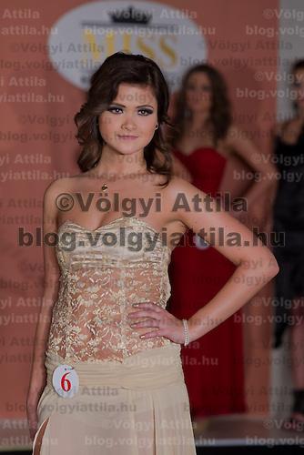 Nikolett Czibolya participates the Miss Hungary beauty contest held in Budapest, Hungary on December 29, 2011. ATTILA VOLGYI