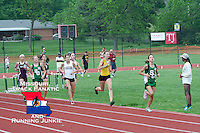 Ste. Genevieve freshman Taylor Werner is chased by Arcadia Valley's Saga Barzowski and others as she leads the first lap of the 800 meters at the Missouri Class 3 Sectional 1 Track and Field Championships at MICDS in St. Louis, Saturday, May 18, 2013.