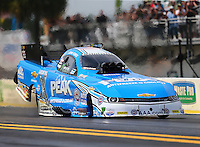 Mar 18, 2016; Gainesville, FL, USA; NHRA funny car driver John Force during qualifying for the Gatornationals at Auto Plus Raceway at Gainesville. Mandatory Credit: Mark J. Rebilas-USA TODAY Sports