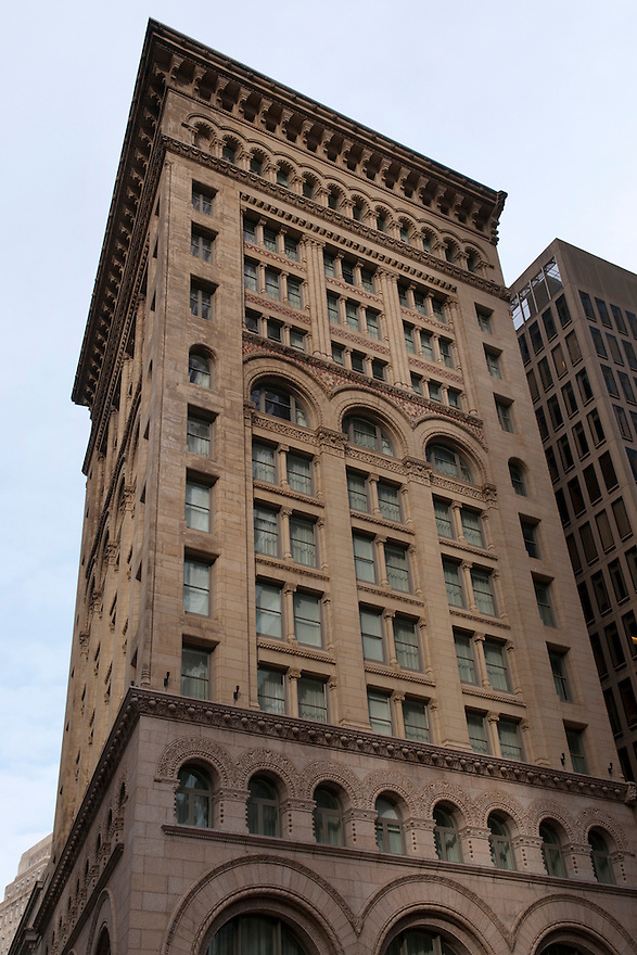 BOSTON, MA.-- February 19, 2010-- The Ames Hotel occupies an historic Boston building, which, at its completion in 1893, was considered Boston's first skyscraper. CREDIT: JODI HILTON FOR THE NEW YORK TIMES