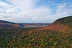 Fall view of Donnell Pond, Maine