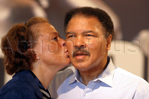 09.10.2003  Muhammad Ali with his wife Lonnie (USA) . Muhammad Ali died on June 3rd 2016 of a respiratory complication in a Phoenix hospital.