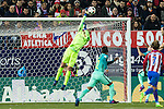 FC Barcelona's goalkeeper Jasper Cilissen in action during the match of Copa del Rey between Atletico de  Madrid and Futbol Club Barcelona at Vicente Calderon Stadium in Madrid, Spain. February 1st 2017. (ALTERPHOTOS/Rodrigo Jimenez)