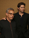 Joe Mantello and Andrew Rannells attend Broadway's 'Boys in the Band' hosted Midnight Performance of 'Three Tall Women' to Honor Director Joe Mantello at the Golden Theatre on May 17, 2018 in New York City.