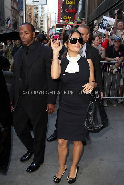 WWW.ACEPIXS.COM . . . . .  ....June 27 2012, New York City....Salna Hayek made an appearance at Good Morning America on June 27 2012 in New York City....Please byline: Zelig Shaul - ACE PICTURES.... *** ***..Ace Pictures, Inc:  ..Philip Vaughan (212) 243-8787 or (646) 769 0430..e-mail: info@acepixs.com..web: http://www.acepixs.com