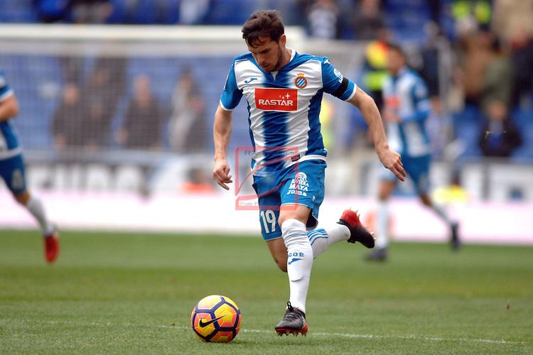 League Santander 2016/2017. Game: 19.<br /> RCD Espanyol vs Granada CF: 3-1.<br /> Piatti.