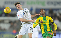 Swansea City's Dan James vies for possession with West Bromwich Albion's Tosin Adarabioyo<br /> <br /> Photographer Kevin Barnes/CameraSport<br /> <br /> The EFL Sky Bet Championship - Swansea City v West Bromwich Albion - Wednesday 28th November 2018 - Liberty Stadium - Swansea<br /> <br /> World Copyright &copy; 2018 CameraSport. All rights reserved. 43 Linden Ave. Countesthorpe. Leicester. England. LE8 5PG - Tel: +44 (0) 116 277 4147 - admin@camerasport.com - www.camerasport.com