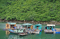 Fisherman floatting houses, Halong Bay, Vietnam