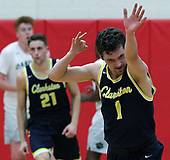 Foster Loyer, Clarkston, celebrates after hitting a clutch fourth quarter three point shot during regional semifinal action against Macomb-Dakota at Grand Blanc High School Monday, March 13, 2017. Loyer scorched the net for a game high 31 points to help the Wolves defeat Dakota 68-48. Photos: Larry McKee, L McKee Photography. PLEASE NOTE: BEFORE PURCHASING AN IMAGE, PLEASE CHOOSE PROPER PRINT FORMAT TO BEST FIT IMAGE DIMENSIONS. L McKee Photography, Clarkston, Michigan. L McKee Photography, Specializing in Action Sports, Senior Portrait and Multi-Media Photography. Other L McKee Photography services include business profile, commercial, event, editorial, newspaper and magazine photography. Oakland Press Photographer. North Oakland Sports Chief Photographer. L McKee Photography, serving Oakland County, Genesee County, Livingston County and Wayne County, Michigan. L McKee Photography, specializing in high school varsity action sports and senior portrait photography.