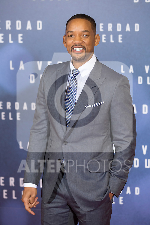 US actor Will Smith attends `La verdad duele´ (Concussion) film premiere at Callao cinema in Madrid, Spain. January 27, 2015. (ALTERPHOTOS/Victor Blanco)