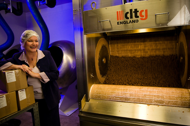 Terena Blanton-Downs of Cocolat at her Production facility in Balhanna.