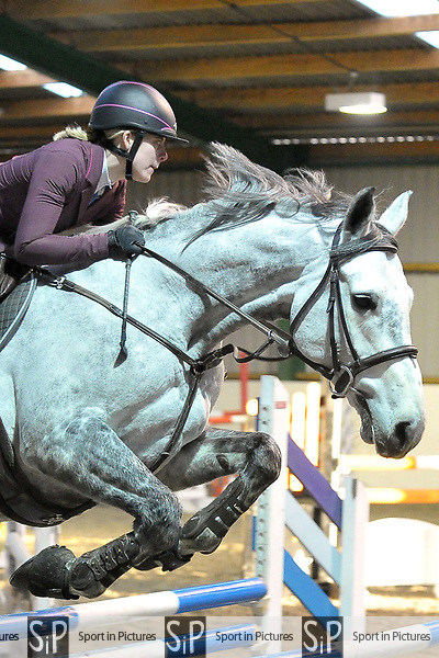 Class 4. Qualifier. British showjumping seniors. Brook Farm training centre. Essex. UK. 12/11/2017. ~ MANDATORY CREDIT Garry Bowden/Sport in Pictures - NO UNAUTHORISED USE - +44 7837 394578