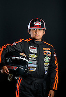 Mar. 23, 2014; Chandler, AZ, USA; LOORRS junior 1/junior 2 driver Ricky Gutierrez poses for a portrait prior to round one at Wild Horse Motorsports Park. Mandatory Credit: Mark J. Rebilas-USA TODAY Sports