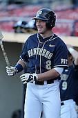 Pittsburgh Panthers John Schultz #2 during a game vs. the Central Michigan Chippewas at Chain of Lakes Park in Winter Haven, Florida;  March 11, 2011.  Pittsburgh defeated Central Michigan 19-2.  Photo By Mike Janes/Four Seam Images