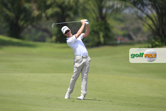 Brandon Stone (RSA) in action on the 2nd during Round 1 of the Maybank Championship at the Saujana Golf and Country Club in Kuala Lumpur on Thursday 1st February 2018.<br /> Picture:  Thos Caffrey / www.golffile.ie<br /> <br /> All photo usage must carry mandatory copyright credit (© Golffile | Thos Caffrey)
