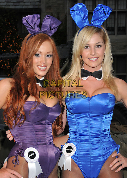 PLAYBOY BUNNIES .Stars and Stripes: An Evening of Sexy Patriotism Benefiting the Wounded Warrior Project held at the Playboy Mansion, Beverly Hills, CA, USA..may 16th, 2009.half length blue purple strapless cleavage corset ears.CAP/ADM/BP.©Byron Purvis/AdMedia/Capital Pictures.