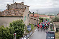 peloton coming over the Montalbano climb<br /> <br /> Stage 2: Bologna to Fucecchio (200km)<br /> 102nd Giro d'Italia 2019<br /> <br /> ©kramon
