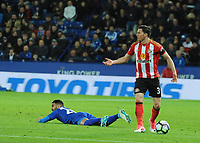 Wilfred Ndidi of Leicester CityBryan Oviedo of Sunderland during the Premier League match between Leicester City v Sunderland played at King Power Stadium, Leicester on 4th April 2017.<br /> <br /> available via IPS Photo Agency/Rex Features  only