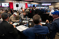 LOUISVILLE, KY - MAY 1: Winstar team reacts to Auduble's post draw at Churchill Downs on May 1, 2018 in Louisville, Kentucky. (Photo by Eric Patterson/Eclipse Sportswire/Getty Images)