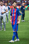 FC Barcelona's forward Leo Messi after Copa del Rey (King's Cup) Final between Deportivo Alaves and FC Barcelona at Vicente Calderon Stadium in Madrid, May 27, 2017. Spain.<br /> (ALTERPHOTOS/BorjaB.Hojas)