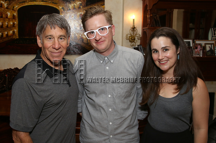 Stephen Schwartz, Kyle Jarrow and Lauren Worsham attends the DGF Salon with Kyle Jarrow on November  1, 2018 at The Uterbetg Residence in New York City.