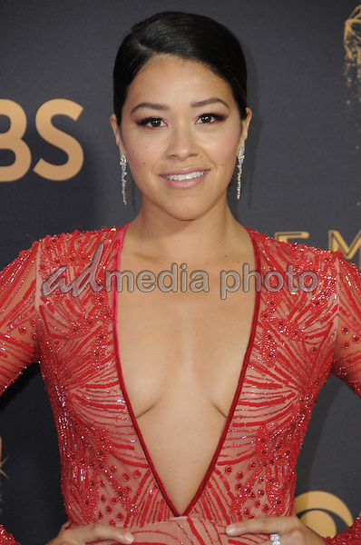 17 September  2017 - Los Angeles, California - Gina Rodriguez. 69th Annual Primetime Emmy Awards - Arrivals held at Microsoft Theater in Los Angeles. Photo Credit: Birdie Thompson/AdMedia