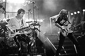 TRIUMPH - Rik Emmett and Mike Levine - performing live on The Sport of Kings Tour at the Long Beach Arena in Long Beach CA USA - 30 Jan 1987.  Photo credit: David Plastik/IconicPix