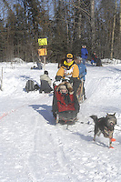 Anne Capistrant Anchorage Start Iditarod 2008.