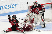 Matti Hartman (NU - 16), Andie Anastos (BC - 23), Brittany Bugalski (NU - 39) -  The Boston College Eagles defeated the Northeastern University Huskies 2-1 in overtime to win the 2017 Hockey East championship on Sunday, March 5, 2017, at Walter Brown Arena in Boston, Massachusetts.