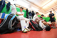 Picture by SWpix.com - 09/052018 Yorkshire Cricket College first ever game v Woodhouse grove School, Apperley Bridge, Bradford - team members and players of take to field for The Yorkshire Cricket College first ever game v Woodhouse Grove School<br /> Opening batter &ndash; Boeta Beukes left