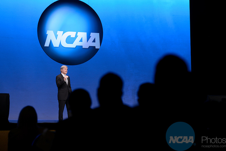 17 JAN 2013: The Opening Business Session at the 2013 NCAA Convention held at the Gaylord Texan in Grapevine, TX. Stephen Nowland/NCAA Photos.Pictured: Mark Emmert