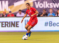 PHILADELPHIA, PA - AUGUST 29: Tobin Heath #17 of the United States dribbles during a game between Portugal and the USWNT at Lincoln Financial Field on August 29, 2019 in Philadelphia, PA.