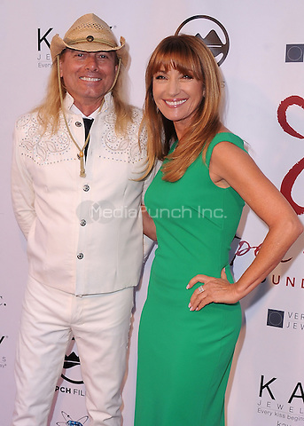 MALIBU, CA - MAY 10:  Robin Zander and Jane Seymour at the 4th Annual Open Hearts Gala at a private residence on May 10, 2014 in Malibu, California. Credit: PGSK/MediaPunch