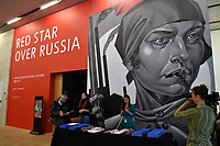 Tate Modern new exhibition, Red Star Over Russia, A Revolution in Visual Culture 1905-55, on the 100th anniversary of the October Revolution, a visual history of the Soviet Union, revealing how seismic political events inspired a wave of innovation in art and graphic design. <br /> Tate Modern gallery, London, England on November 07, 2017.<br /> CAP/JOR<br /> &copy;JOR/Capital Pictures