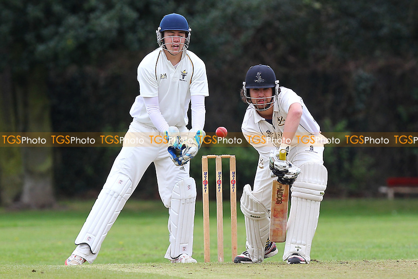 Elliott Timoti in batting action for Upminster - Upminster CC vs Chingford CC - Essex Cricket League Cup at Upminster Park - 25/04/15 - MANDATORY CREDIT: Gavin Ellis/TGSPHOTO - Self billing applies where appropriate - 0845 094 6026 - contact@tgsphoto.co.uk - NO UNPAID USE