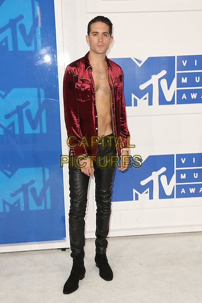 NEW YORK - AUGUST 28: G-Eazy arrives at the 2016 MTV Video Music Awards at Madison Square Garden on August 28, 2016 in New York City.<br /> CAP/MPI99<br /> &copy;MPI99/Capital Pictures